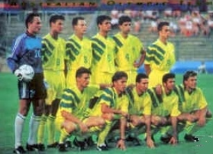 Australia-92-adidas-home-kit-yellow-yellow-yellow-line-up.jpg