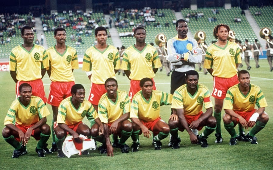 Cameroon-1990-adidas-world-cup-away-kit-yellow-red-green-line-up.jpg
