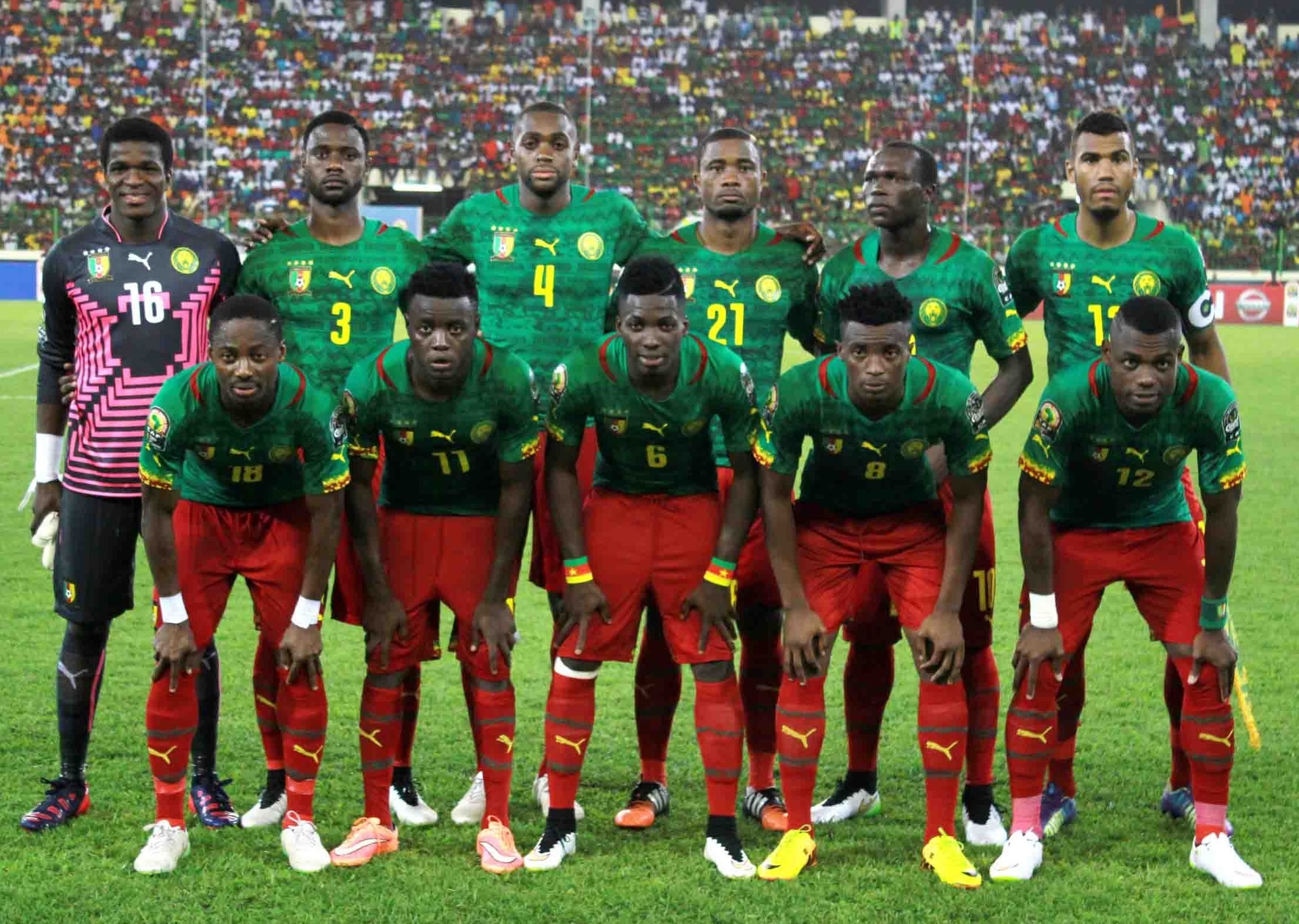 Cameroon-2014-15-PUMA-home-kit-green-red-red-line-up.jpg