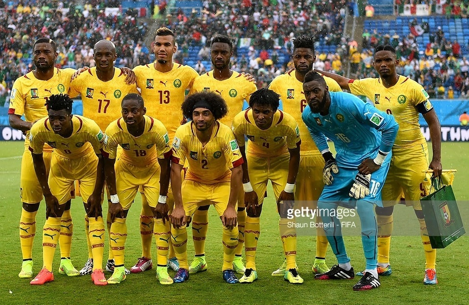 Cameroon-2014-PUMA-world-cup-away-kit-yellow-yellow-yellow-line-up.jpg