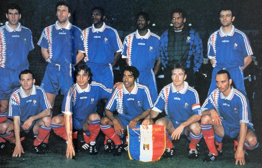 France-94-95-adidas-home-kit-blue-blue-red-pose.JPG