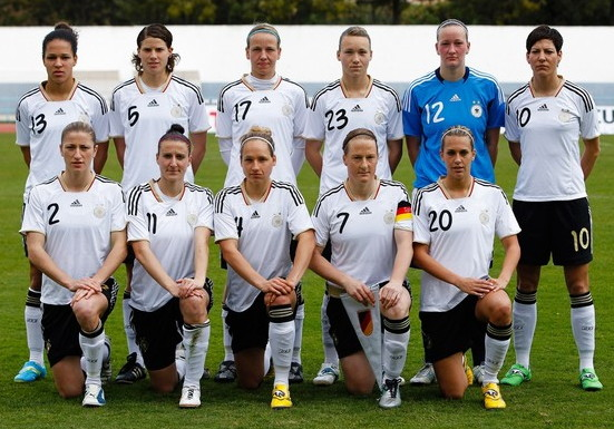 Germany-12-adidas-women-home-kit-white-black-white-line-up.jpg