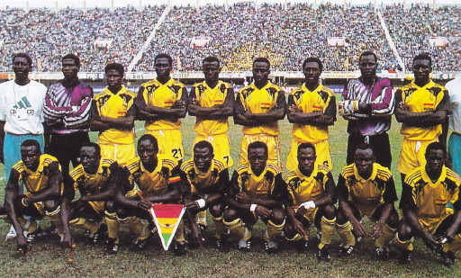 Ghana-92-adidas-home-kit-yellow-yellow-yellow-line-up.jpg