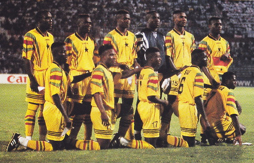 Ghana-96-adidas-Atlanta-olympic-home-kit-yellow-yellow-yellow-line-up.jpg