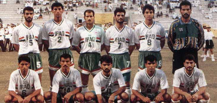 Iraq-1993-GRAND-SPORT-kit-white-green-white-group-photo.jpg