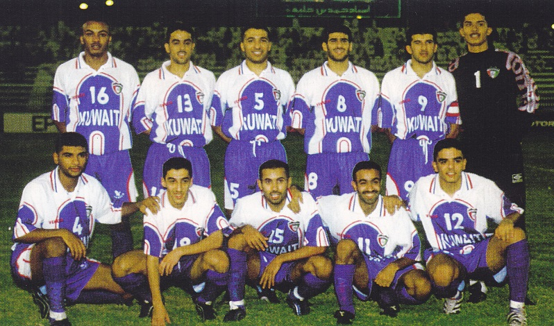 Kuwait-1999-sydney-olympic-qualifying-home-kit-blue-blue-blue-line-up.jpg