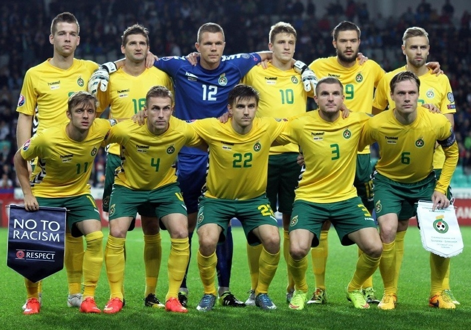 Lithuania-2015-16-hummel-home-kit-yellow-green-yellow-line-up.jpg