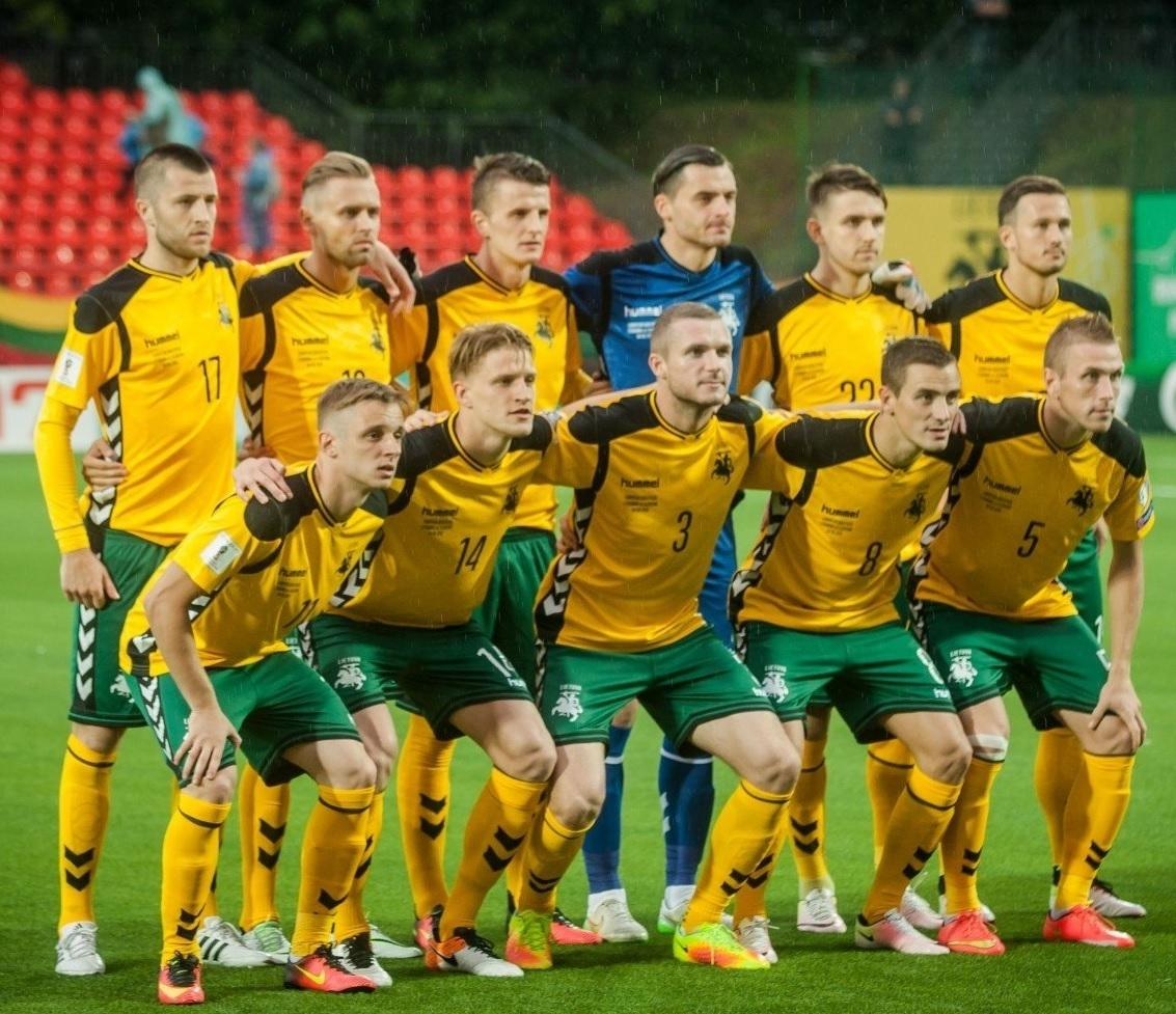 Lithuania-2016-17-hummel-home-kit-yellow-green-yellow-line-up.jpg