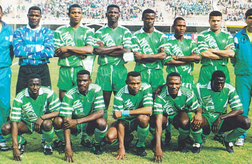 Nigeria-93-adidas-home-kit-green-green-green-line-up.jpg