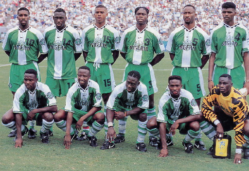 Nigeria-96-NIKE-home-kit-green-green-stripe-line-up.jpg