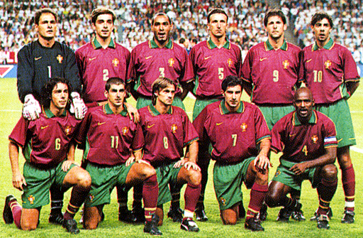 Portugal-98-NIKE-unform-dark red-green-dark red-group.JPG