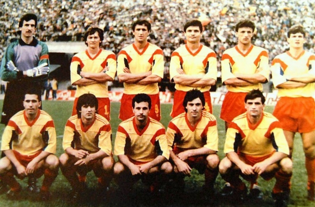 Romania-1990-adidas-home-kit-yellow-red-red-line-up.jpg