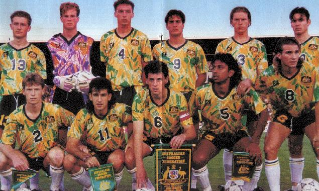 Socceroos-91-93-Kingroo-home-kit-yellow-green-white-line-up.jpg