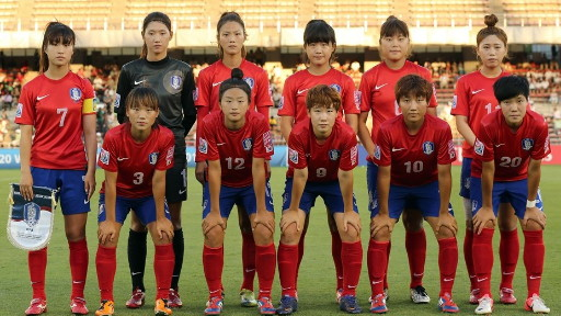 South Korea-12-13-NIKE-U20-women-home-kit-red-blue-red-line-up.jpg